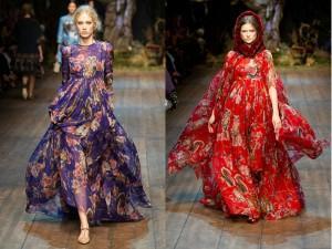 платья дольче габбана 2015