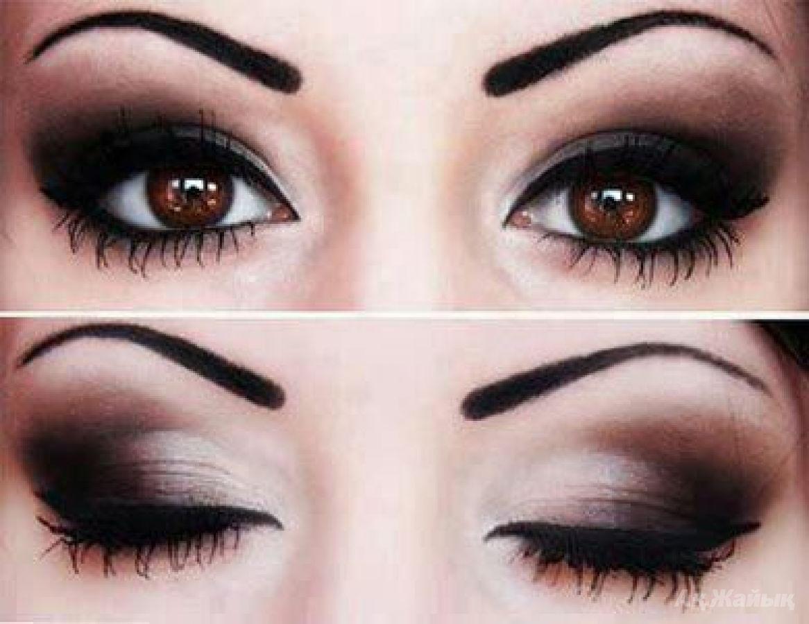 Как сделать красивый макияж к карим глазам