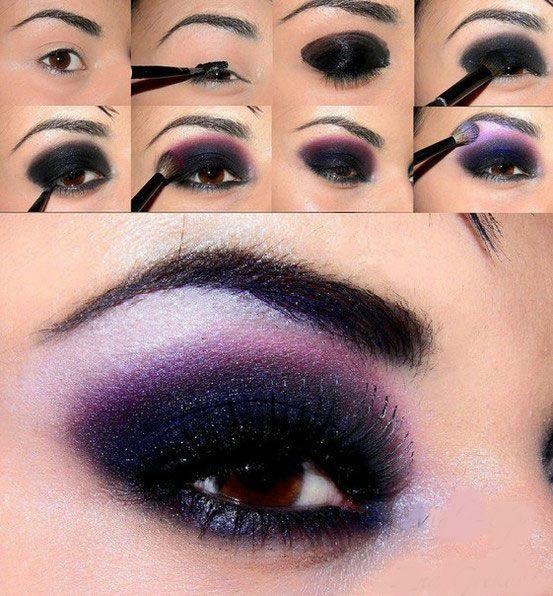 Как сделать макияж для глаз для карих глаз фото