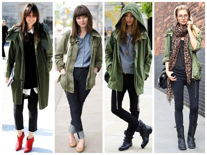 Парки куртки женские с чем носить