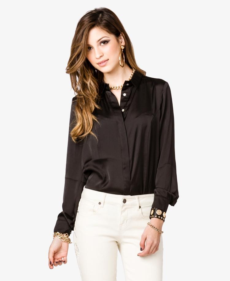 Черная Шелковая Блузка Доставка