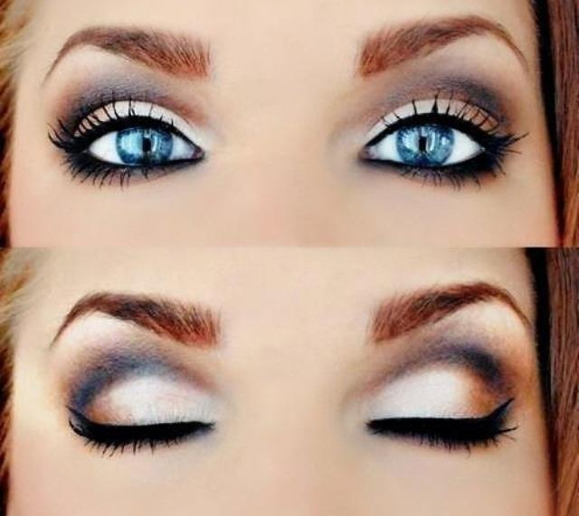 Макияж к серо голубым глазам