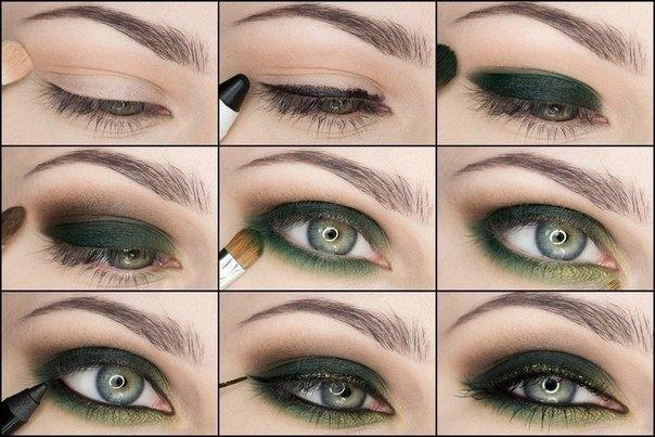 Смоки айс для зеленых глаз пошаговые фото